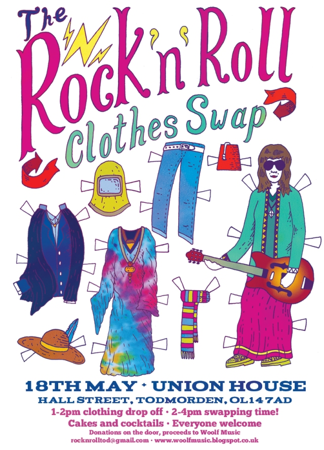 Rock n Roll Clothes Swap event in Todmorden!