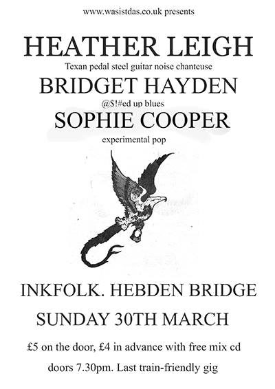 Heather Leigh, Bridget Hayden, Sophie Cooper show in Hebden poster n that