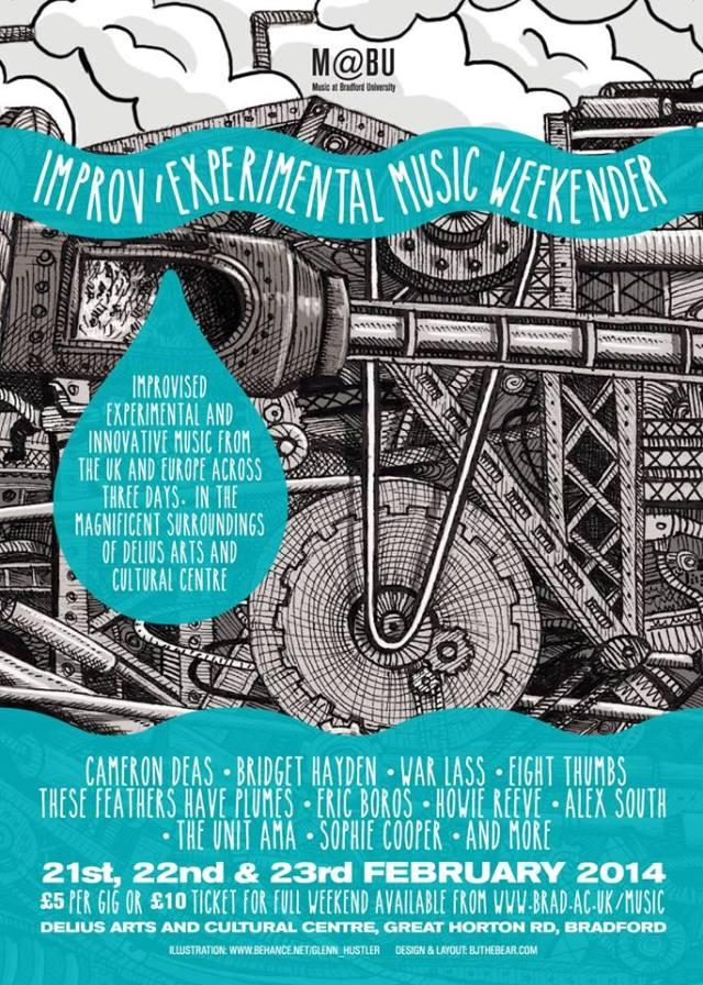 Improv and experimental music weekender in Bradford.