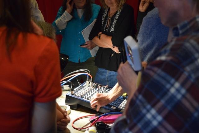 mixing desk crowd
